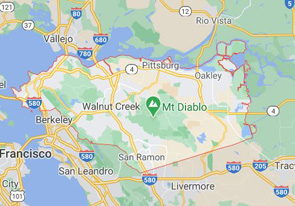 dumpster service map, Oakland, California